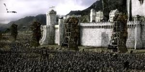 The full scale battle of Minas Tirith
